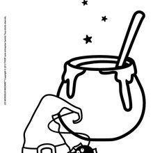 Dibujo para colorear : Pócima Mágica de los Señordones