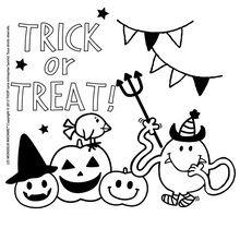 Dibujo para colorear : Mr Cosquillas para Halloween
