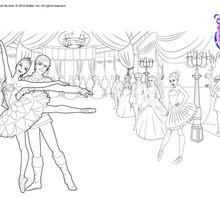Dibujo para colorear : Bailarines Cristina y Hilarion