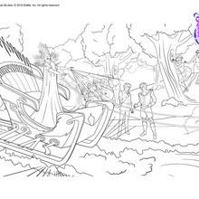 Dibujo para colorear : La reina de las Nieves
