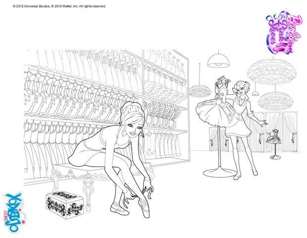 Dibujos para colorear barbie en el probador - Coloriage barbie danseuse ...