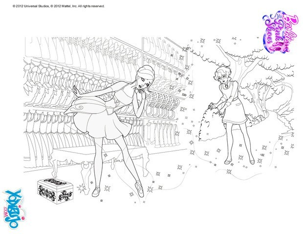 Dibujos Para Colorear De Barbie Las Zapatillas Magicas ~ Ideas ...