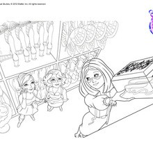 Dibujo para colorear : Cristina, Hailey y Sra Natacha