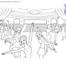 Dibujo para colorear : Clase de baile