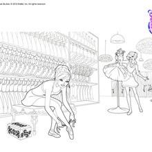 Dibujo para colorear : Barbie en el probador