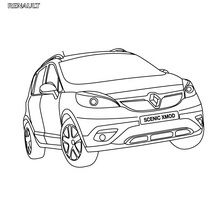 Dibujo para colorear : Gama coche familiar Renault Scénic