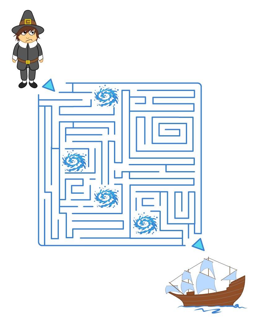 Juegos gratuitos de peregrino y mayflower - es.hellokids.com