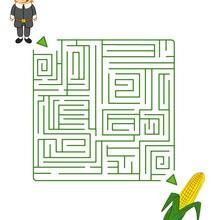 Juego para imprimir : Mazorca de maíz