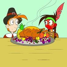 Cena típica del Día de Acción de Gracias