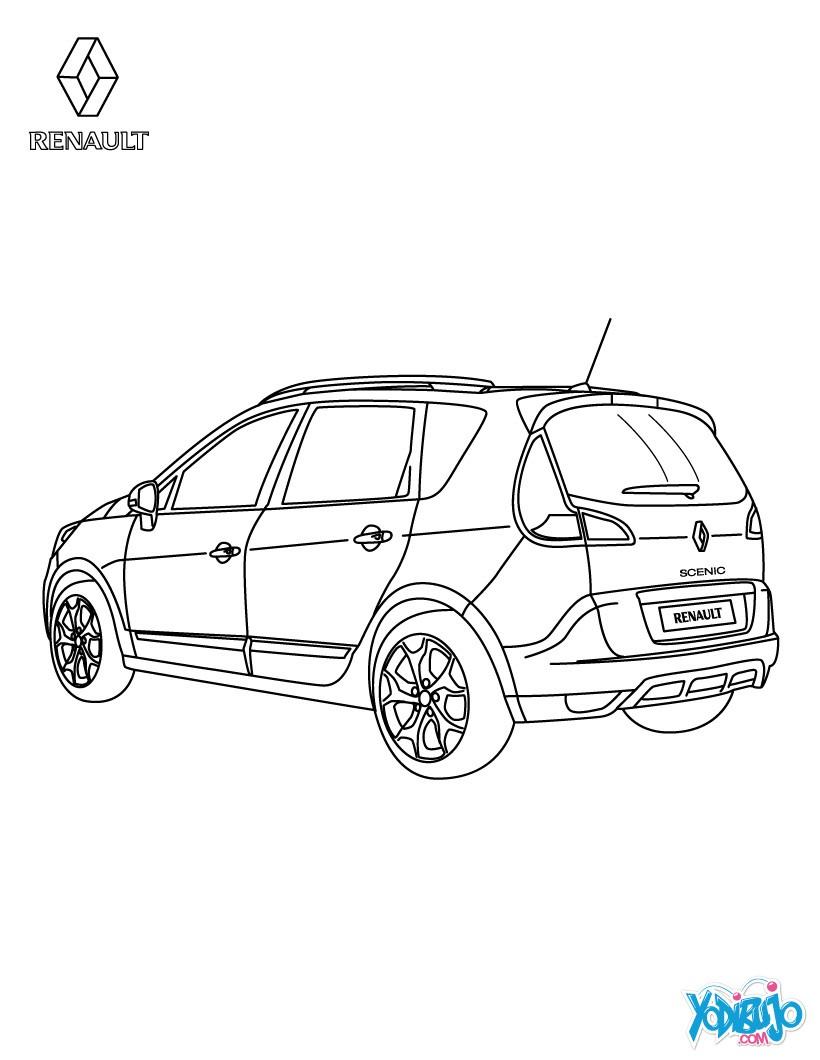 dibujos para colorear coche renault sc u00e9nic authentique