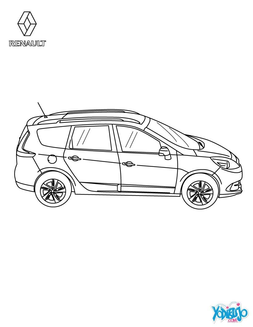 Dibujos para colorear coche scénic authentique vista aérea - es ...