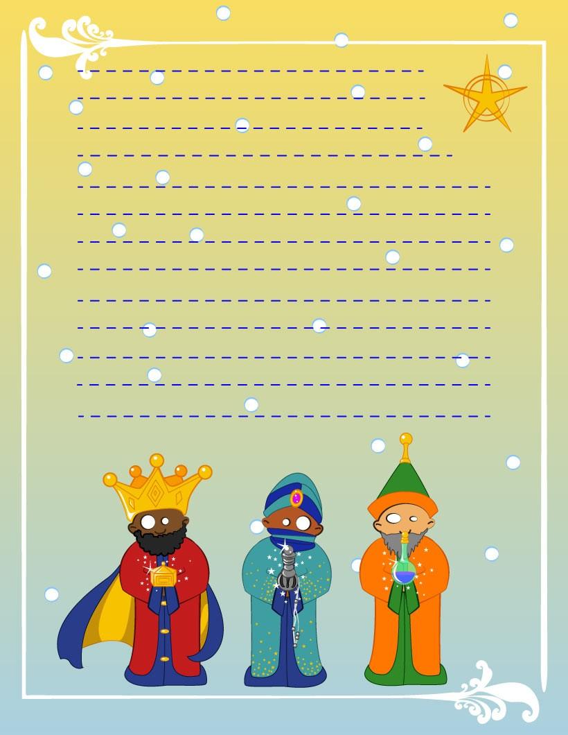 Worksheet. Cartas a los Reyes Magos para imprimir  4 decoraciones de Navidad