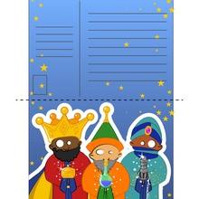 Manualidad infantil : Queridos Melchor, Baltasar y Gaspar