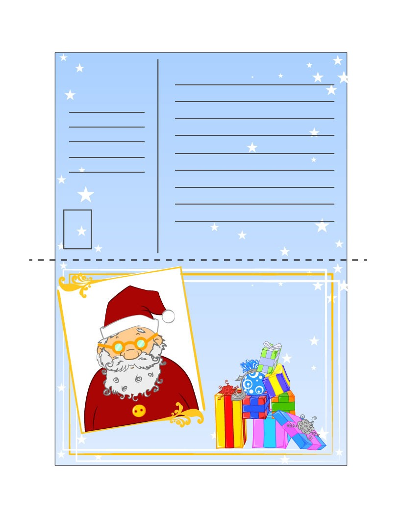 Cartas a Papa Noel para imprimir - 3 modelos de cartas para escribir ...