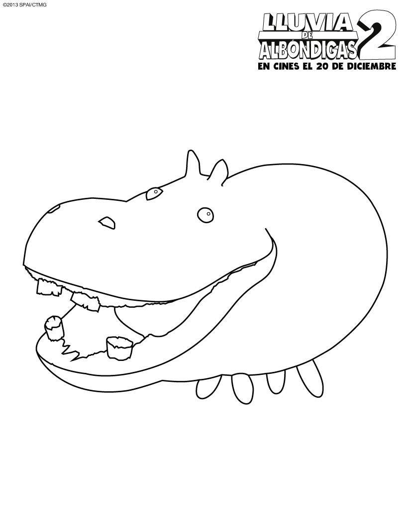 Hipopotamo Dibujos Para Colorear Dibujo Para Niños Lecturas