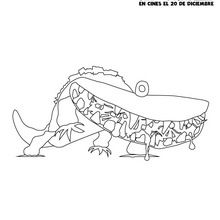 Dibujo para colorear : Tacodrilo