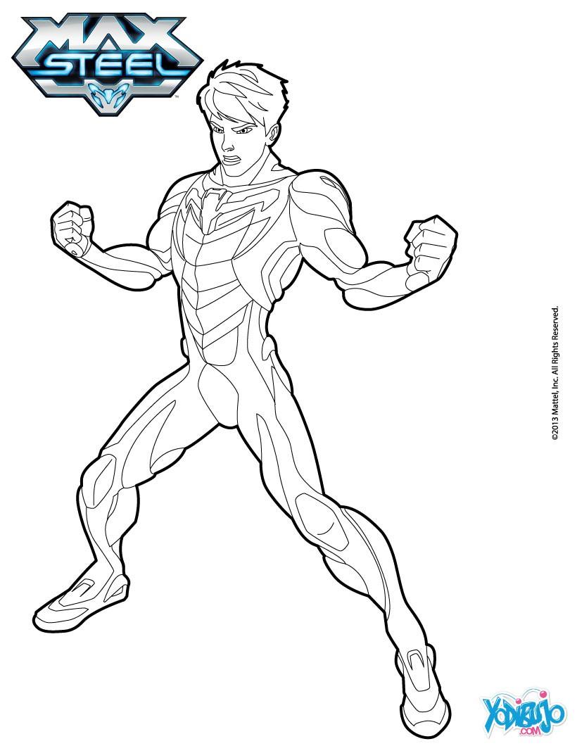 Max Steel Para Colorear Dibujos Para Colorear Imprime