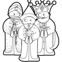 Dibujo para colorear : Los tres reyes magos