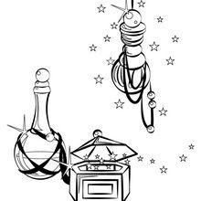 Dibujo para colorear : Los regalos de los reyes magos