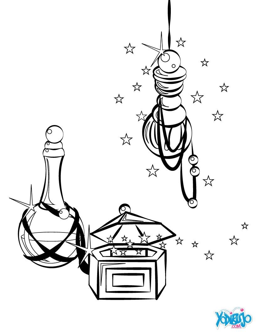 Dibujos para colorear los regalos de los reyes magos  es