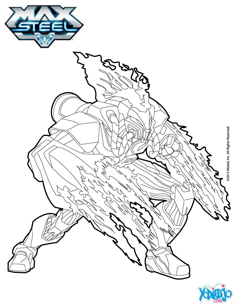Max Steel Coloring Pages - ma