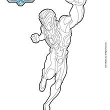 Dibujo para colorear : Max Steel puño