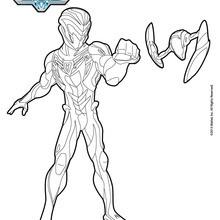Dibujo para colorear : Max Steel de pie