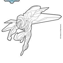 Dibujo para colorear : Max Steel volando