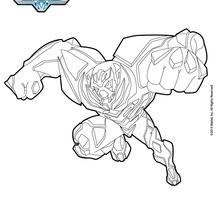 Dibujo para colorear : Miles Dredd ataca