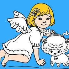 Puzzle en línea : Angel de Navidad