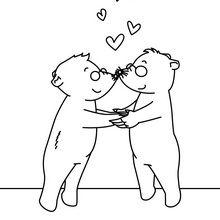 Dibujo para colorear : Amor Ciego