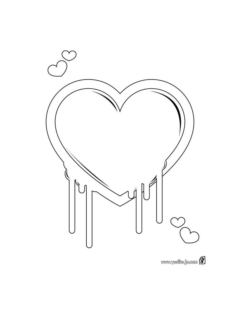 Dibujos para colorear corazón pintura - es.hellokids.com