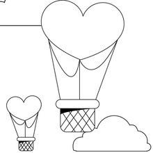 Dibujo para colorear : Corazón en el cielo
