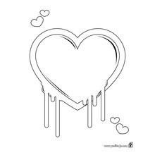 Dibujo para colorear : Corazón pintura