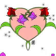 amor, Dibujos de CORAZONES para colorear