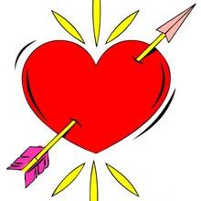 corazón, Dibujos para colorear SAN VALENTIN