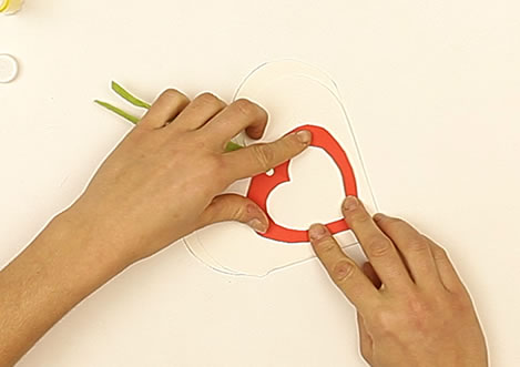 actividades manuales de tarjeta pop up 3d coraz n. Black Bedroom Furniture Sets. Home Design Ideas