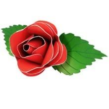Manualidad infantil : Botón de rosa roja