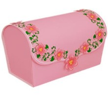 Manualidad infantil : Caja Rosa Romántica