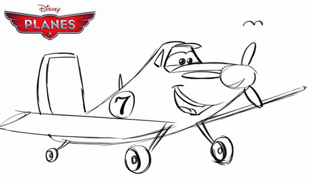Cómo dibujar a Dusty de la película Aviones
