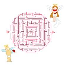 Página para imprimir : Angelitos del amor