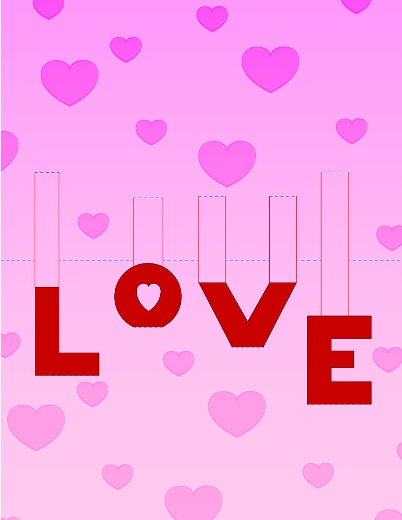 Love Pop Up Card Template