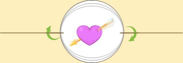 Taumatropo Corazón y Flecha