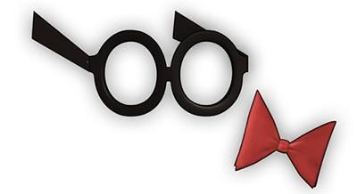 Arte de papel: Gafas y Pajarita de Peabody