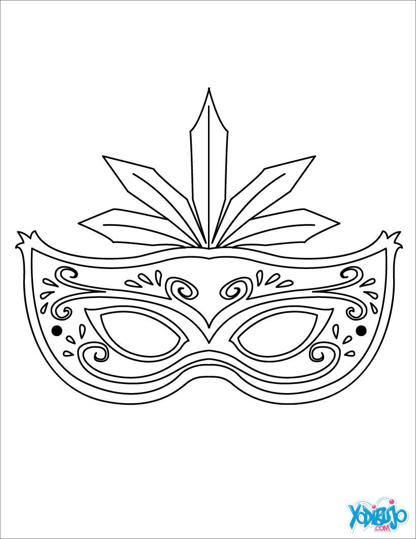 Dibujos Para Colorear Máscara Tigre Eshellokidscom