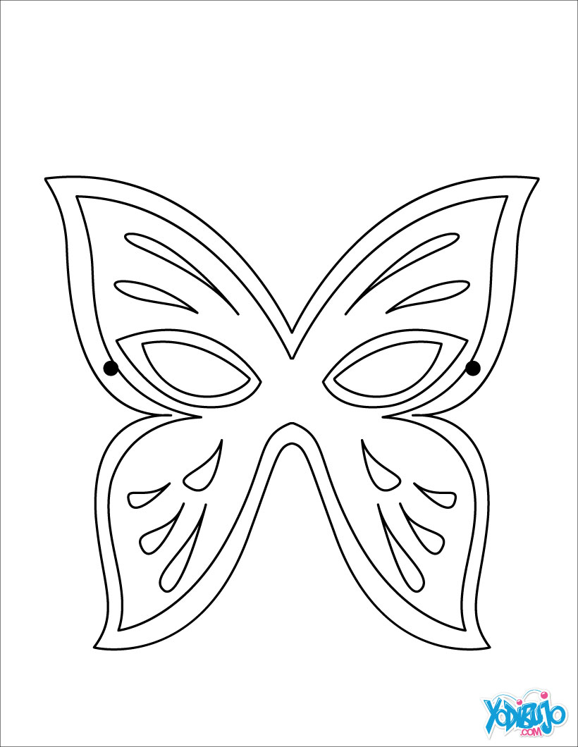 Dibujos de MASCARAS para colorear - 10 laminas de Carnaval para niños