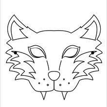 Dibujo para colorear : Máscara Tigre