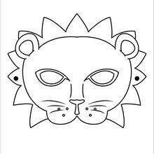 Dibujo para colorear : Máscara León