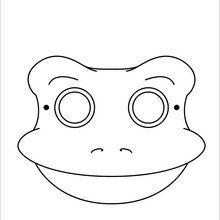 Dibujo para colorear : Máscara Rana