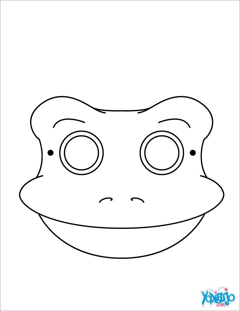 Dibujos para colorear máscara rana - es.hellokids.com